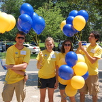 Student workers add a splash of color to campus