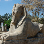 Sphinx statue, Memphis Open Air Museum