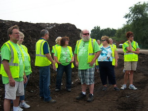 The Waste Busters visited the Mulch Store, the site where Carleton's compost is processed.