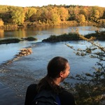 Adam Denny takes in the view over the St. Croix river