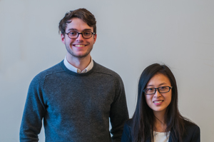 Cathy Chen '17 and Robert Kearney '17