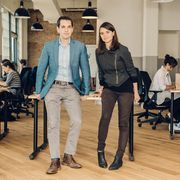 Ezra Levin '07 and Leah Greenberg '08, cofounders of Indivisible