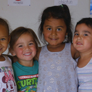 Children at the Lakota Immersion Childcare at Pine Ridge, South Dakota.