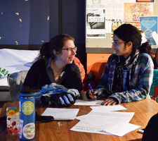 Students competing in Water Trivia Night during the 2019 Climate Action Week.