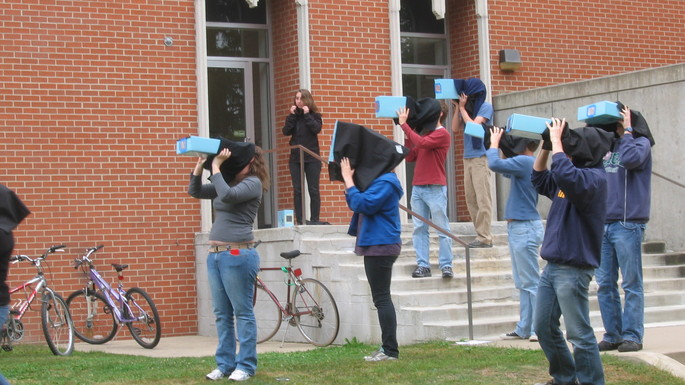 PHYS 344 - Optics class using pinhole cameras.