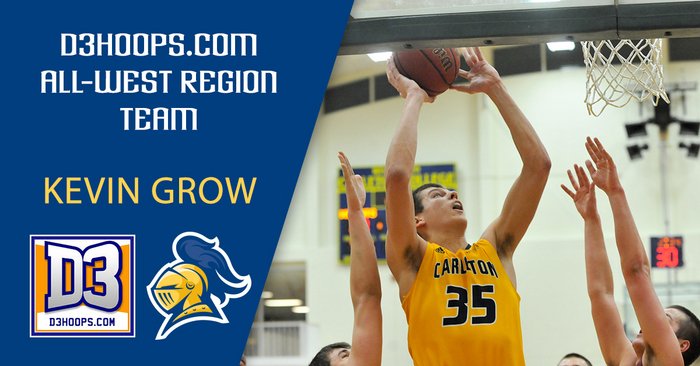 Kevin Grow was named to the 2015-16 D3Hoops.com All-Region Team
