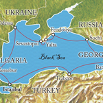 Map for Circumnavigation of the Black Sea - 8/2013
