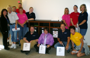 Members of the Custodial Waste Busters. Fall 2012
