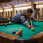 Students enjoy shooting pool