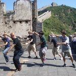 Professor Zhao and his students doing Tai Chi on the Great Wall
