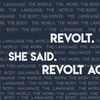 Emma Halper '18 comps production REVOLT. SHE SAID. REVOLT AGAIN. runs 04/19 - 04/21 at 7:30pm.