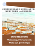 Europe (Media) W21 Information Session Poster