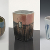 Cups by (left to right) Kathryn Fisher, Kelly Connole, and Juliane Shibata
