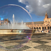Plaza de España in a Bubble