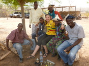Grace Ann Whitmore '14 and Malian friends