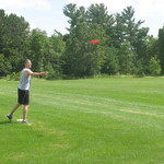 Aaron Chaput plays disc golf