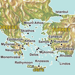 Map for Exploring the Aegean