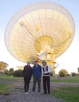 Carleton's student-faculty research team at the Parkes (Australia) 64-meter dish.
