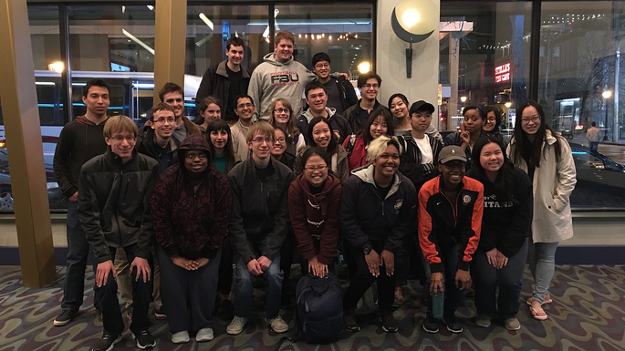 Students field trip to see Japanese anime.