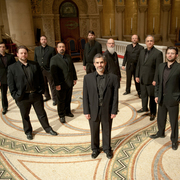 Image of members of the vocal ensemble, Capella Romana.