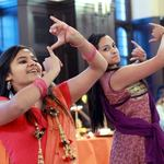 Members of MOSAIC dance at the Diwali celebration