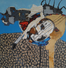 Max Lyonga is a contemporary Cameroonian painter exhibiting works at Carleton this winter term, '19.