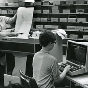 Computer lab in Carleton in 1969.