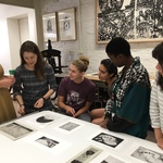 Final critiques in the print class - Winter 2017