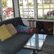Dacie's front porch, a favorite hangout in warm weather.