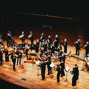 The St. Paul Chamber Orchestra performing on a stage