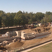 New Residence Hall construction, August 2008