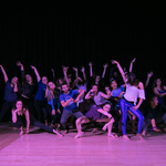 Students perform a variety of choreographed dances in the Great Space for the Synchrony Fall Showcase.