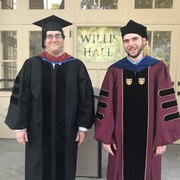 New Econ Dept faculty, Asst Professors Yaniv Ben-Ami & Ethan Struby, attending opening convocation