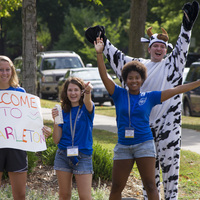 Welcoming new students to campus