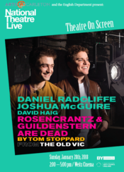 NT Live viewing of Rosencrantz and Guildenstern Are Dead, Sunday, Jan. 28 at 2pm in Weitz Cinema.