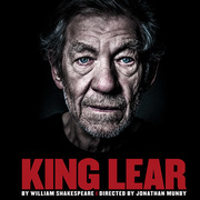 "Image of promotional poster for National Theatre's production of ""King Lear."""