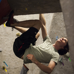 Carleton College students in the Rec. Center's Bouldering Cave