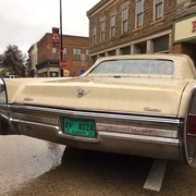 1970s Cadillac, license plates from Alabama.