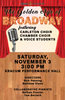"2018 Choir ""The Golden Age of Broadway"" Poster"