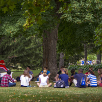 New student week groups meet for the first time