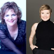 Jazz pianist Laura Caviani and jazz vocalist Karrin Allyson.