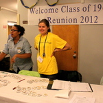 Reception in Watson for the 50th reunion of 1962.