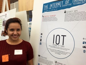 Nayely Martinez dug into the research behind the tech industry known as the Internet of Things.