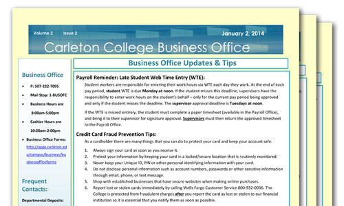 Business Office Newsletter