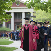 Faculty procession at annual Honors Convocation