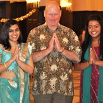 Sonali Gupta '12, Charlie Cogan and Meera Sury '14