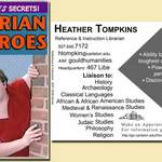 Heather Tompkins' trading card, 2007-2009
