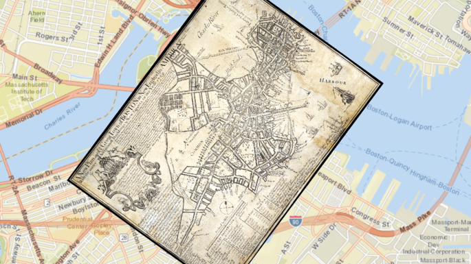 Georeferenced 1769 Boston Map