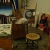 The painting studio