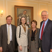 The Odens with Dartmouth President James (Jim) Wright and his wife, Susan Wright.